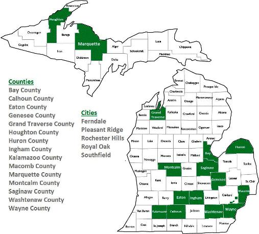 PACE Counties Michigan